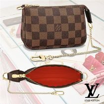 Louis Vuitton DAMIER Other Check Patterns Canvas Chain Pouches & Cosmetic Bags