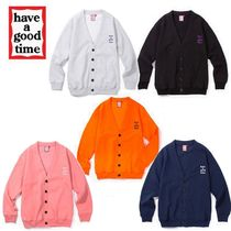have a good time Unisex Sweat Street Style Plain Cardigans