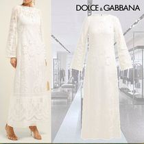 Dolce & Gabbana Maxi Long Sleeves Plain Long Dresses