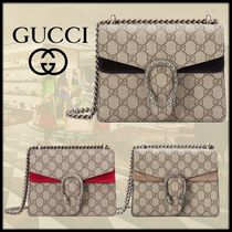GUCCI Dionysus Monogram Canvas Blended Fabrics 2WAY Chain