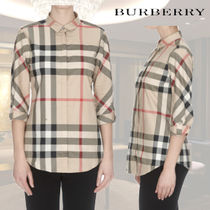 Burberry Other Check Patterns Cropped Shirts & Blouses