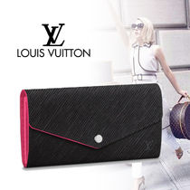 Louis Vuitton EPI Plain Leather Long Wallets