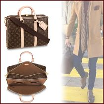 Louis Vuitton MONOGRAM Monogram Blended Fabrics Street Style A4 2WAY