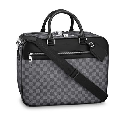 Louis Vuitton Business & Briefcases Other Check Patterns Canvas Blended Fabrics Street Style A4 2