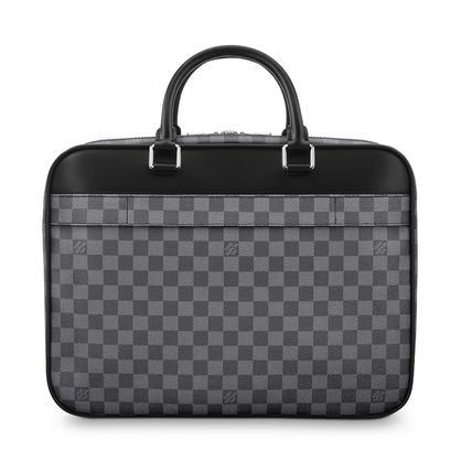 Louis Vuitton Business & Briefcases Other Check Patterns Canvas Blended Fabrics Street Style A4 5
