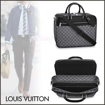 Louis Vuitton DAMIER GRAPHITE Other Check Patterns Canvas Blended Fabrics Street Style A4