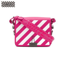 Off-White Stripes Casual Style Shoulder Bags