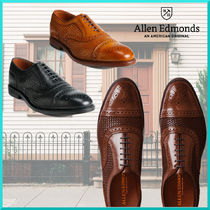 Allen Edmonds Straight Tip Plain Leather Oxfords