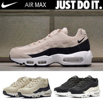 Nike AIR MAX 95 Platform Round Toe Casual Style Unisex Blended Fabrics