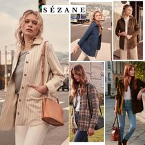 SEZANE Gingham Other Check Patterns Elegant Style Jackets