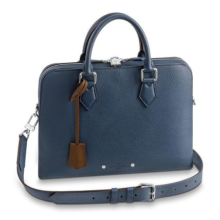 Louis Vuitton Business & Briefcases Blended Fabrics Street Style A4 3WAY Plain Leather 2