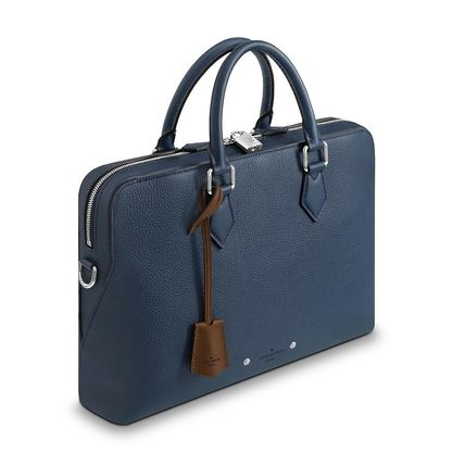 Louis Vuitton Business & Briefcases Blended Fabrics Street Style A4 3WAY Plain Leather 3
