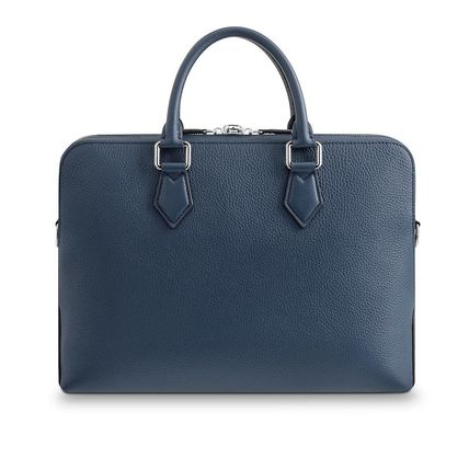 Louis Vuitton Business & Briefcases Blended Fabrics Street Style A4 3WAY Plain Leather 5