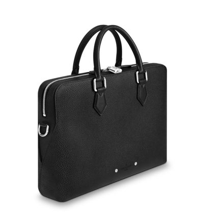 Louis Vuitton Business & Briefcases Blended Fabrics Street Style A4 3WAY Plain Leather 7