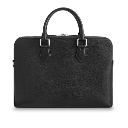 Louis Vuitton Business & Briefcases Blended Fabrics Street Style A4 3WAY Plain Leather 9