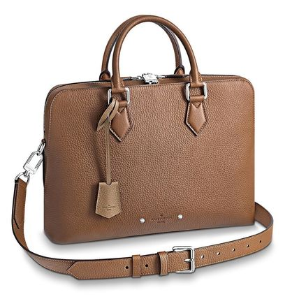 Louis Vuitton Business & Briefcases Blended Fabrics Street Style A4 3WAY Plain Leather 10