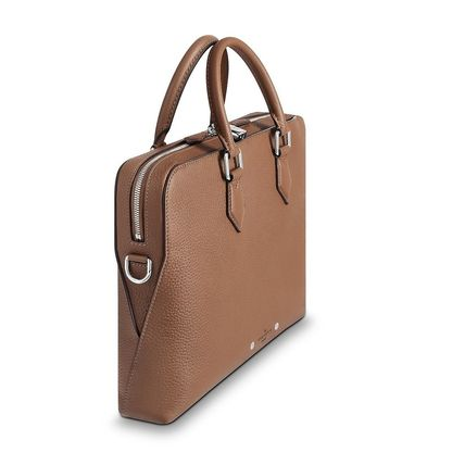 Louis Vuitton Business & Briefcases Blended Fabrics Street Style A4 3WAY Plain Leather 11