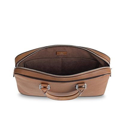 Louis Vuitton Business & Briefcases Blended Fabrics Street Style A4 3WAY Plain Leather 12