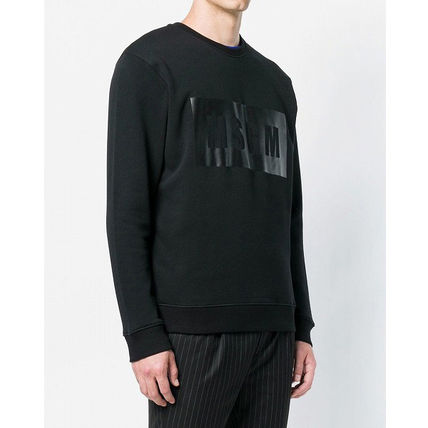 MSGM Sweatshirts Crew Neck Pullovers Street Style Long Sleeves Plain Cotton 6