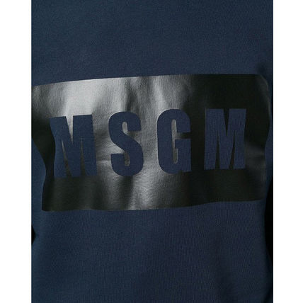 MSGM Sweatshirts Crew Neck Pullovers Street Style Long Sleeves Plain Cotton 9