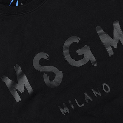 MSGM Sweatshirts Crew Neck Pullovers Street Style Long Sleeves Plain Cotton 15