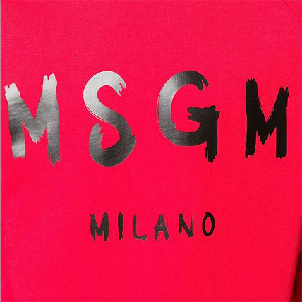 MSGM Sweatshirts Crew Neck Pullovers Street Style Long Sleeves Plain Cotton 19