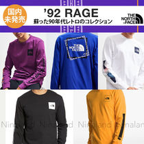 THE NORTH FACE Crew Neck Pullovers Unisex Street Style Long Sleeves Cotton