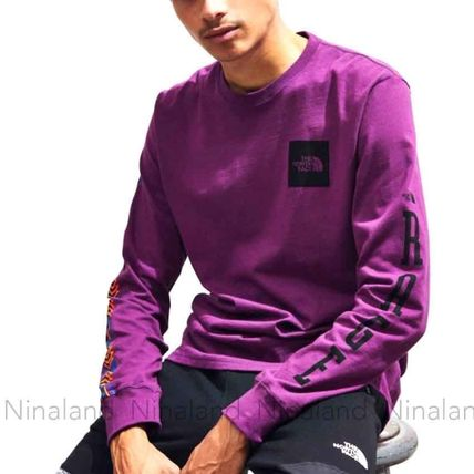 THE NORTH FACE Long Sleeve Crew Neck Pullovers Unisex Street Style Long Sleeves Cotton 8