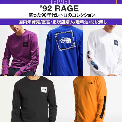 THE NORTH FACE Long Sleeve Crew Neck Pullovers Unisex Street Style Long Sleeves Cotton