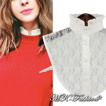 Flower Patterns Casual Style Cotton Detachable Collars