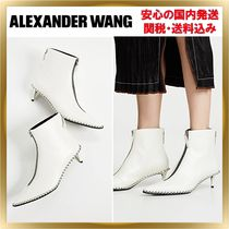 Alexander Wang Studded Plain Leather Pin Heels Elegant Style