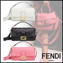 FENDI BAGUETTE Monogram 3WAY Elegant Style Crossbody Logo Shoulder Bags