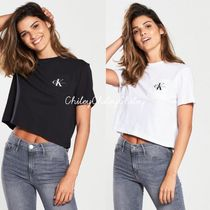 Calvin Klein Crew Neck Short Cotton Short Sleeves Cropped