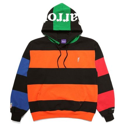 Pullovers Stripes Unisex Sweat Street Style Long Sleeves