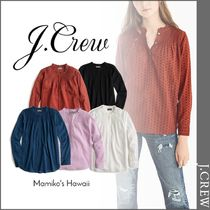J Crew Casual Style Long Sleeves Cotton Shirts & Blouses