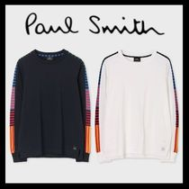 Paul Smith Crew Neck Stripes Long Sleeves Cotton Long Sleeve T-Shirts