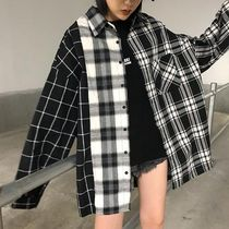 Other Check Patterns Casual Style Street Style Long Sleeves