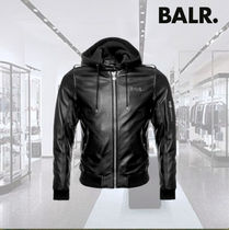 BALR Plain Leather Biker Jackets