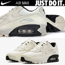 Nike AIR MAX 90 Platform Round Toe Casual Style Unisex Blended Fabrics