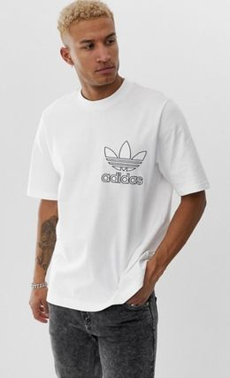 adidas Crew Neck Crew Neck Pullovers Street Style Cotton Short Sleeves 2