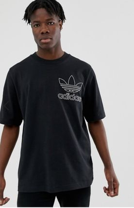 adidas Crew Neck Crew Neck Pullovers Street Style Cotton Short Sleeves 6