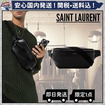 Saint Laurent Plain Leather Hip Packs