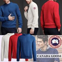 CANADA GOOSE Crew Neck Wool Long Sleeves Plain Knits & Sweaters