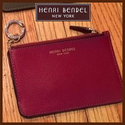 Henri Bendel Plain Leather Coin Purses with Key Ring