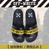 Off-White Unisex Street Style Plain Shower Shoes Shower Sandals