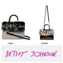 Betsey Johnson Leopard Patterns Casual Style Shoulder Bags