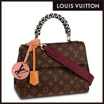 Louis Vuitton Monogram Casual Style Blended Fabrics 2WAY Leather Handmade