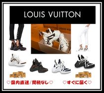 Louis Vuitton Casual Style Unisex Leather Low-Top Sneakers