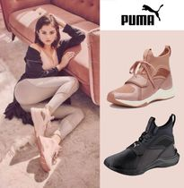 PUMA Casual Style Unisex Street Style Plain Low-Top Sneakers