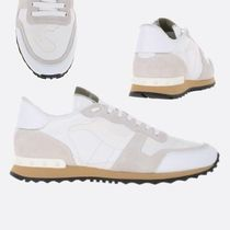VALENTINO Camouflage Round Toe Rubber Sole Lace-up Casual Style Unisex